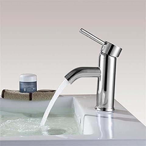 Moderne Einfache verchromt Einhand Waschbecken Wasserhahn