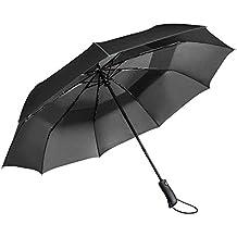 Paraguas de Viaje Vanwalk Paraguas Automático Plegable a Prueba de Viento con la Construcción Doble con Dosel para Viaje - 9 Costillas
