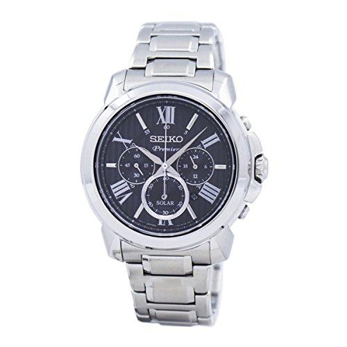 Seiko Herren Chronograph Solar Uhr mit Edelstahl Armband SSC597P1
