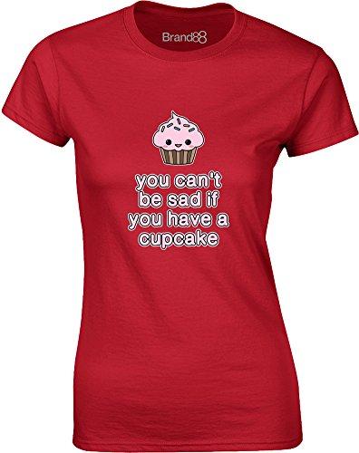 Brand88 - Have a Cupcake, Gedruckt Frauen T-Shirt Rote