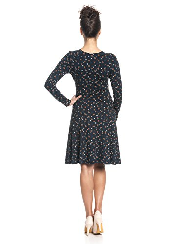 Vive Maria Damen Kleid Sweet Swing Dress Mehrfarbig (Dark Navy Allover)