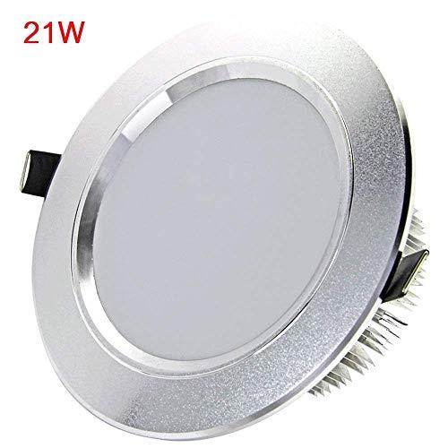 Wapipey 21W Ultra Slim Classic Aluminio Redondo LED Empotrable Downlight Lámpara Hogar...