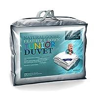 Littens Junior Cot Bed Size Goose Feather & Down Duvet Quilt, 230TC 100% Cotton, Down Proof, Kids, Toddler (120cm x 150cm)