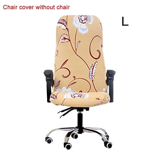 Jweal Bürostuhl Bezug, Abnehmbarer belastbar Rutschfest deckt Entworfen mit Einzigartigen Muster für Drehstuhl Bürostuhl LW001Drehstuhl Computer Stuhl Armlehnen Stuhl, Aprikose, Large
