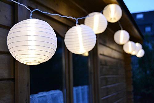 HI Lanterne Chinoise 25 Lampes LED Guirlande Lumineuse Décoration Jardin Extérieur Patio Maison Salon Escalier Chambre Intérieur Festival