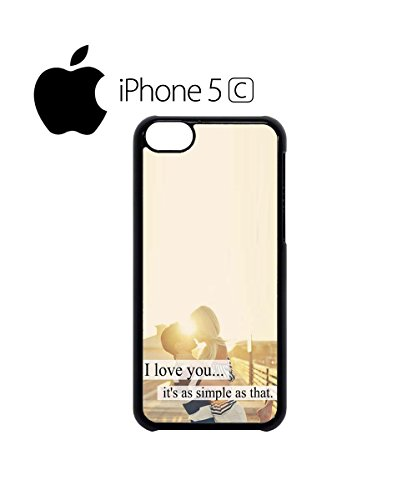 I Love You It's Simple As That Couple Kissing Beautiful Mobile Phone Case Cover iPhone 6 Plus + Black Noir