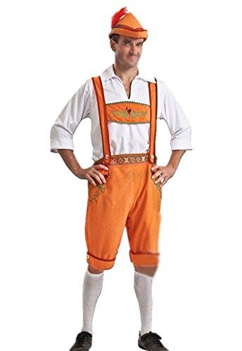 Uleade Halloween Männer und Frauen Erwachsene Paar Deutsche Bier Festival Karneval Cosplay Fantastische Kostüm Orange Bier (Bier Halloween Paar Kostüme)