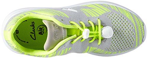 Clarks SprintKnit Jnr Mädchen Sneakers Grau (Grey Combi)