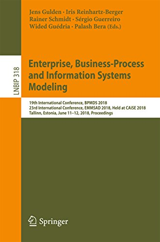 Enterprise, Business-Process and Information Systems Modeling: 19th International Conference, BPMDS 2018, 23rd International Conference, EMMSAD 2018, Held ... Notes in Business Information Processing