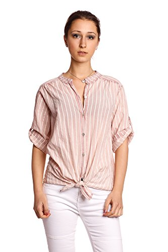 Abbino 8098 Blusa Tiras y Nudos Top para Mujer - Hecho en Italia - 6 Colores -...