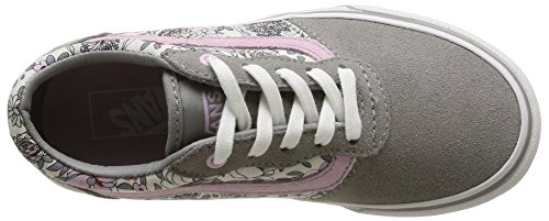 Cinza Sneaker vintage Floral Alfazema Milton Grau Mädchen Vans xtqwfOYaHa