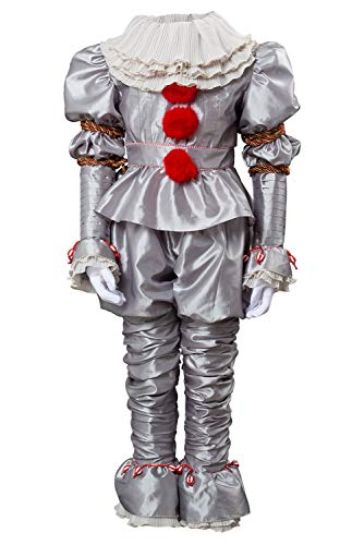 MingoTor 2019 IT 2 Pennywise The Clown Outfit Suit Halloween Cosplay Kostüm Kinder (Clown Pennywise Kostüm)