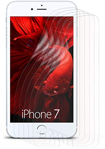 moex 5X Apple iPhone 7/8   Schutzfolie Klar Display Schutz [Crystal-Clear] Screen Protector Bildschirm Handy-Folie Dünn Displayschutz-Folie für iPhone 7/8 Displayfolie