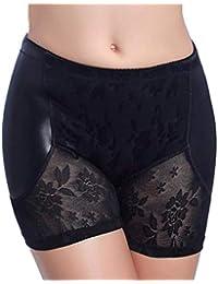 c06ca64e460 Q M Femmes Butt Lifter Culotte Faux Fesse Hanche Dentelle Transparente  Boyshort sous-vêtements