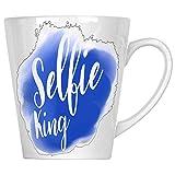 Selfie King Social Media Neuheit Lustig 34 cl Latte Tasse a924L