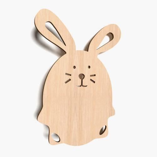 10x Hase Tiere blank Form Holz Ostern Basteln Dekoration Malen Aufhängen