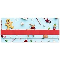 Porta soldi - Buon Natale - Christmas - busta portasoldi (formato 22 x 9,5 cm) + biglietto d'auguri vuoto all'interno - ideale per il tuo messaggio personale - realizzato interamente a mano.