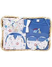 Mee Mee's Pampering Gift Set for New Borns, Dark Blue, 7 Pieces