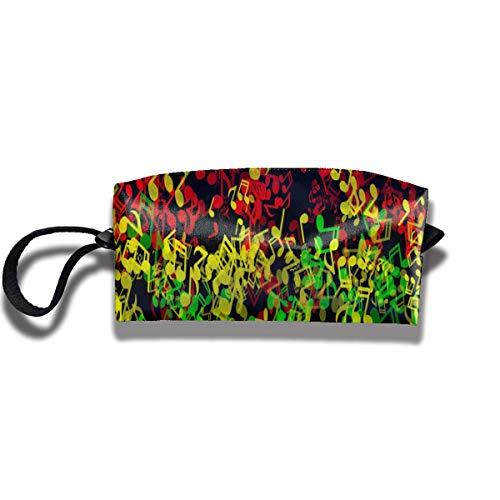 Big Capacity Store Pencil Case Bag - Rasta Reggae Music Cosmetic Makeup Bag Storage Pouch