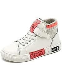 XL_etxiezi Zapatos de Cuero para niños, Zapatos Casuales para niños y niñas, Beige_32