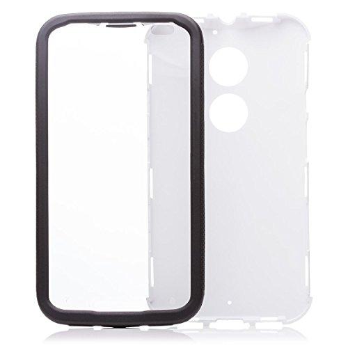iCues Motorola Moto X 2 (2. Gen.) | 2 Part Touch Case Weiss | Outdoor Hardcase Lifeproof 360 Grad Display Full Body Rundum Komplett vorne hinten Front Schutzhülle Hülle Cover Schutz