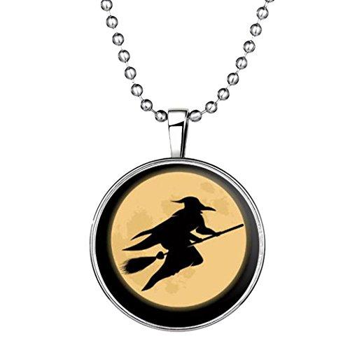 gn Halloween Hexe Nacht Luminous Anhänger Halskette (Top 10 Halloween-film-zeichen)
