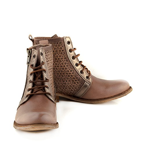 ... Felmini - Damen Schuhe - Verlieben Beja 9640 - Schnürung Stiefel - Echtes  Leder - Mehrfarbig
