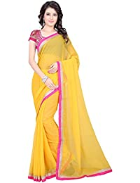 Sharanam Sarees Chiffon Saree (Prabhat_32_Yellow)
