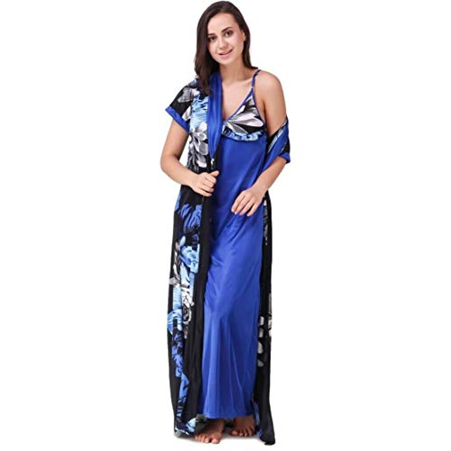 72% OFF on House Of Sensation Women s Satin Nightwear Set of 5 Pcs 1 Wrap ca851313f