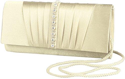 Clutch / borsetta da sera JosyJoe 'Diaz', colore:Crema Bianco Creme White