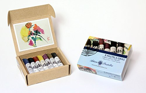 set-of-7-oil-pastels-vegetal-colors