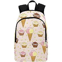 Colorful Ice Cream cupcake casual zaino per la scuola zaino da viaggio zaino da escursionismo