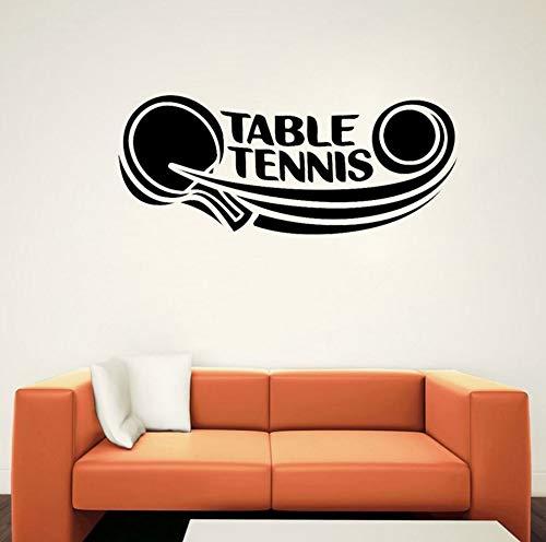 62 CM X 25,5 CM tischtennis aufkleber tischtennis sport PVC wandaufkleber wohnzimmer dekorative wandaufkleber