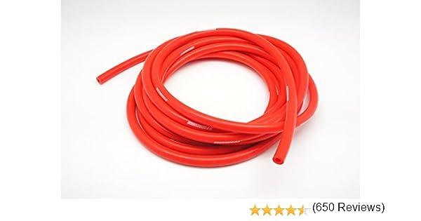 12mm Autobahn88 Durite /à vide Silicone haute Performance OD 0,71 rouge 1,5 m/ètre ID 0,47 5 pieds par bobine 18mm