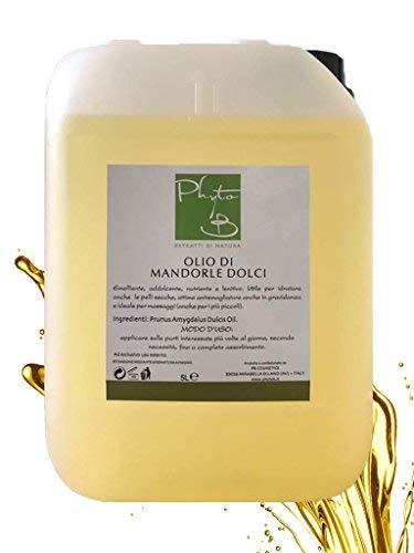 Olio Massaggio Mandorle dolci puro 100% spremitura a freddo tanica 5 litri (5000 ml)