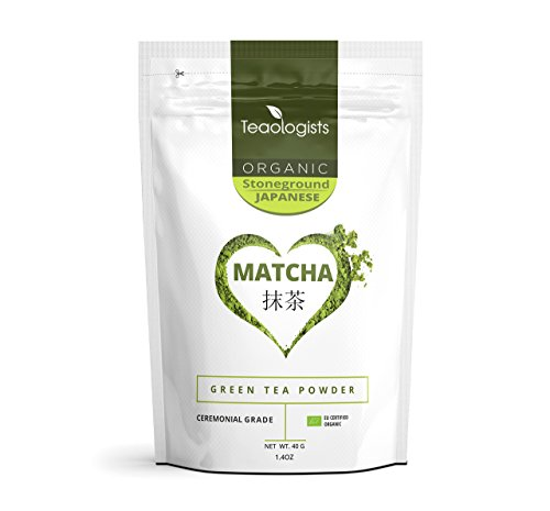 Organic Matcha Green Tea Powder | 40g | Finest Ceremonial Grade From Uji, Japan by Teaologists | Handpicked Stoneground | Single Source First Harvest | Certified GB-ORG-04 EU Organic | Energy Boost, Detox, Weight Loss