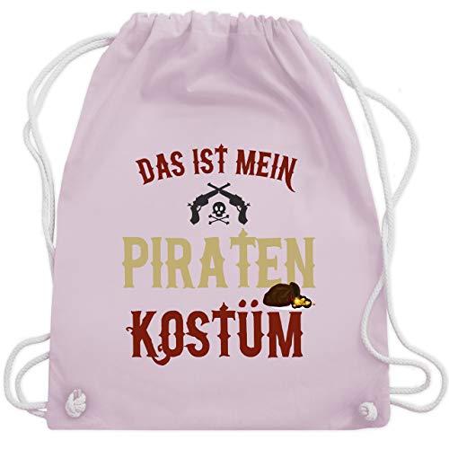 (Karneval & Fasching - Das ist mein Piraten Kostüm - Unisize - Pastell Rosa - WM110 - Turnbeutel & Gym Bag)