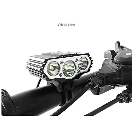 YHTSPORT Luci Bici, 6000 Lumens 3X CREE XM-L T6 LED 4 modalità Lampada Bici