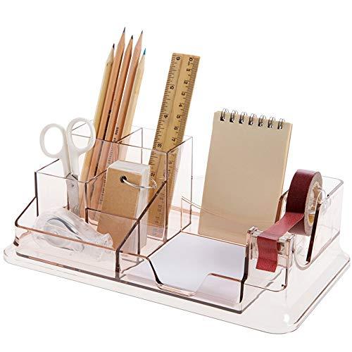 Kreative Transparente Kunststoff Stifthalter High-end Mode Büro Dekoration Benutzerdefinierte Geschenk Schreibwaren Büro Stifteinsatz Große Kapazität Aufbewahrungsbox Ordentlich