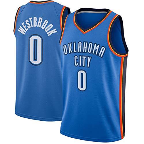 Russell Westbrook # 0 Herren Basketball Jersey - NBA Oklahoma City Thunder Swingman Trikots Ärmelloses T-Shirt Blue(A)-XL - Ucla-t-shirt Jersey