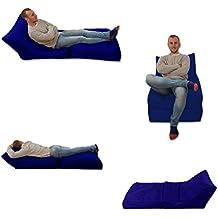 Puf cama y silla azul para uso en exterior e interior, tamaño Extra grande, para videojuegos asiento XXXL, resistente a la intemperie (resistente al agua)