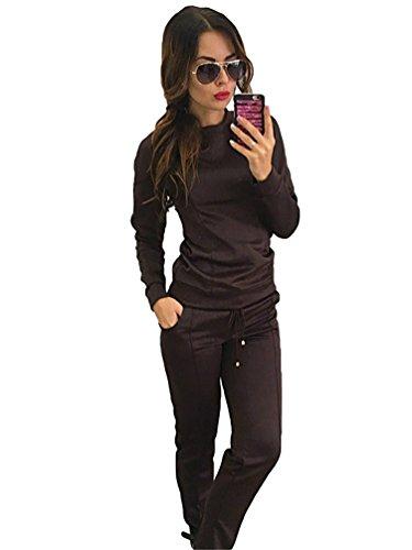 YiLianDa Damen Jogginganzug Sportbekleidung Anzug Sport Sweatshirts Jacke Pants Sweat Hoodies als Bild M