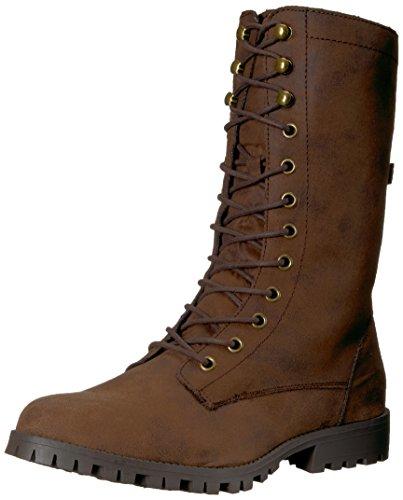 Sugar SugarTegan Tegan halbhoher Stiefel im Militär-Design mit Schnürung für Damen Damen, Braun (braun), 38.5 B(M) EU Schnürung Design