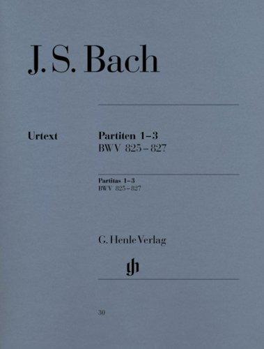Partitas 1-3 BWV825-827 - Piano