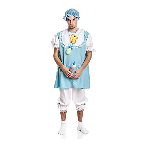 Kostüm Für Nur Erwachsene - Kostümplanet® Baby-Kostüm Herren mit Mütze blau Baby Junge Bube Größe 52/54