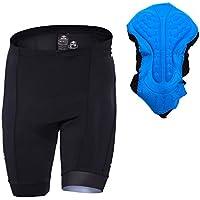 SANTIC Pantalón Ciclismo Hombre Corto,Pantalones Cortos Bicicleta con Badana Gel para Hombres Negro L