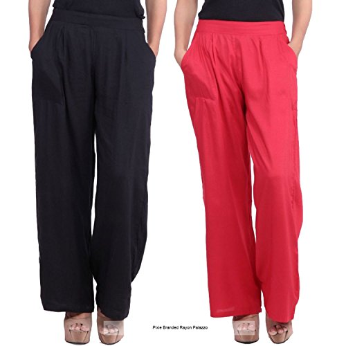 Pixie Formal Rayon Palazzo Pant / Trouser in Combo for Women with...
