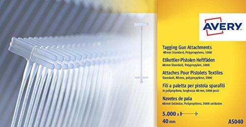 AVERY - Boite de 5000 attaches standard polypropylène 40mm -...