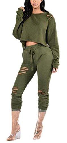 SunIfSnow - Tuta - Felpa - Basic - Maniche lunghe  -  donna Green L