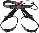 Harness, iTECHOR Multipurpose Outdoor Half-body Adjustable Outdoor Mountain Climbing Safety Belt Harness Equipment-black